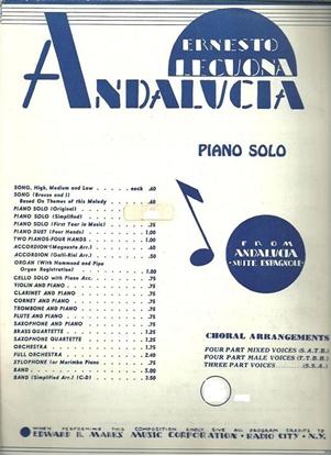 """Picture of Andalucia, from the """"Andalucia Suite"""", Ernesto Lecuona, piano solo"""