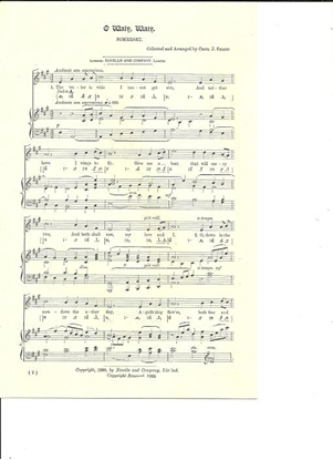 Picture of O Waly Waly, arr. Cecil J. Sharp, unison octavo