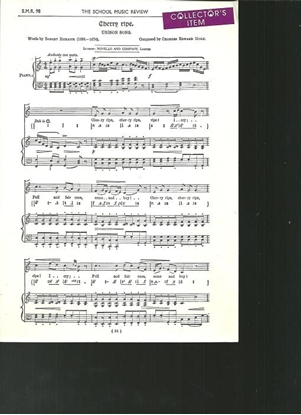 Picture of Cherry Ripe, Charles Edward Horn, unison octavo vocal solo