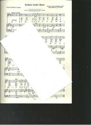 Picture of Luther's Cradle Hymn, Martin Luther & J. S. Bach, unison octavo