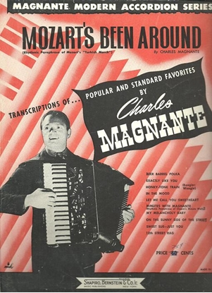 Picture of Mozart's Been Around, arr. Charles Magnante, accordion solo sheet music