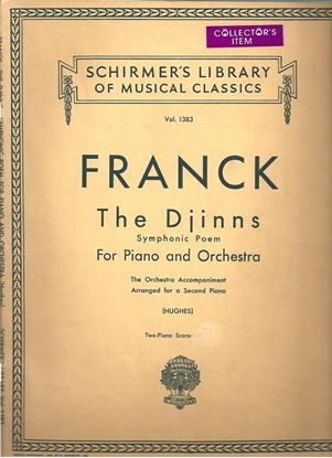 Picture of The Djinns, Symphonic Poem for Piano & Orchestra, Cesar Franck, transcr. for piano duo by Edwin Hughes