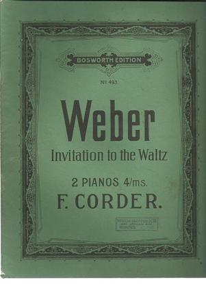 Picture of Invitation to the Waltz, Carl Maria von Weber, piano duo