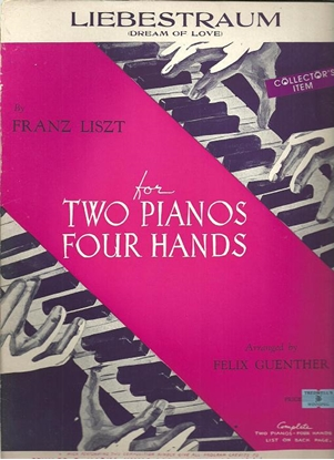 Picture of Liebestraum, Franz Liszt, arr. Felix Guenther for piano duo