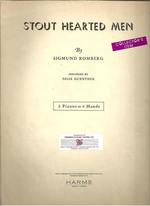 Picture of Stout Hearted Men, Sigmund Romberg, arr. Felix Guenther, piano duo sheet music