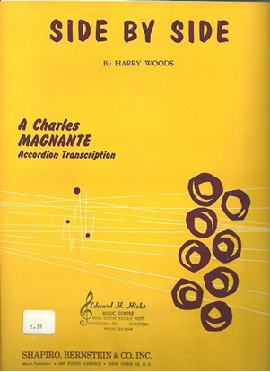 Picture of Side by Side, Harry Woods, arr. Charles Magnante, accordion solo