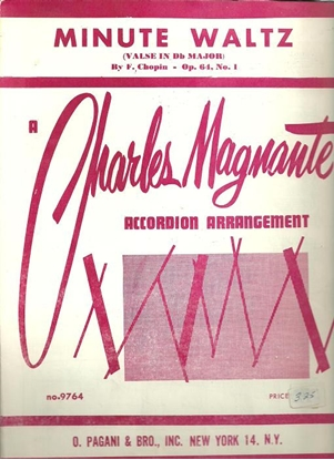 Picture of Minute Waltz Op. 64 No. 1, F. Chopin, arr. Charles Magnante, accordion solo