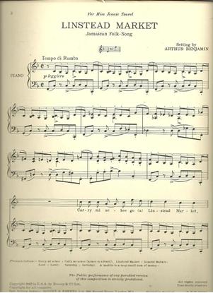 Picture of Linstead Market, Jamaican Folk-Song, arr. Arthur Benjamin, med-high voice