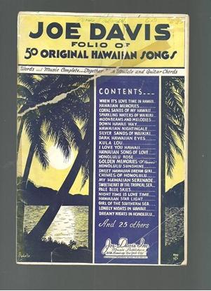 Picture of Joe Davis Folio of 50 Hawaiian Songs