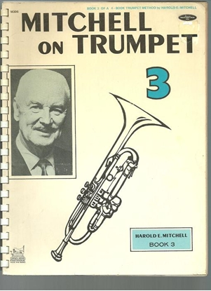Picture of Mitchell on Trumpet Book 3, Harold E. Mitchell, trumpet method songbook