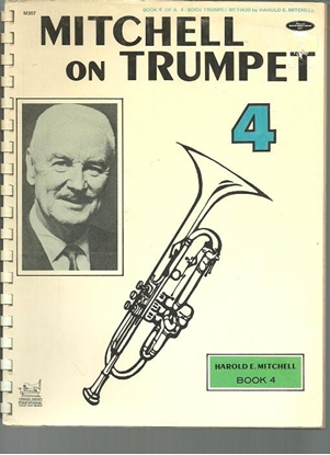 Picture of Mitchell on Trumpet Book 4, Harold E. Mitchell, trumpet method songbook