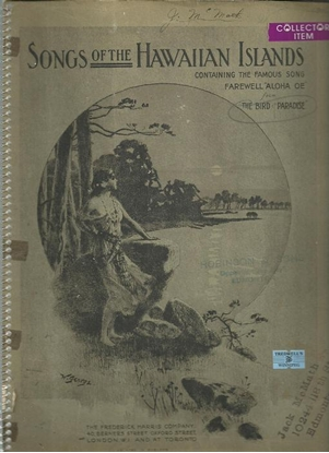 Picture of Songs of the Hawaiian Islands, songbook