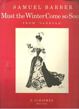 """Picture of Must the Winter Come So Soon, from """"Vanessa"""", Samuel Barber, high voice solo"""