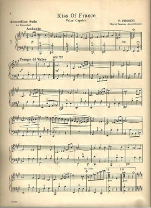 Picture of Kiss of France, Pietro Frosini, accordion solo