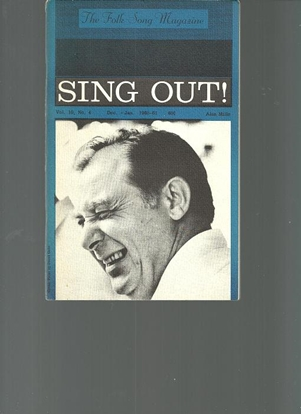 Picture of Sing Out, The Folk Song Magazine, Vol.10 No.4 Dec. - Jan. 1961, featuring Alan Mills, songbook