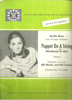 Picture of Wiedehopf im mai, Puppet on a String, Calliope, Bill Martin & Phil Coulter, sung by Sandie Shaw