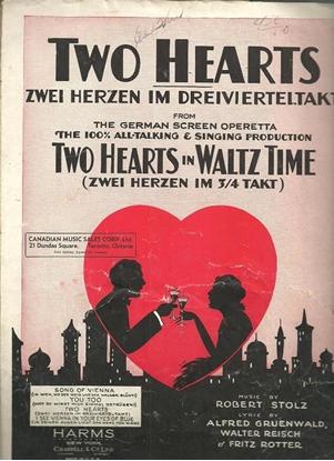 Picture of Zwei herzen im dreivierteltakt, Two Hearts in 3/4 Time, W. Reisch & Robert Stolz