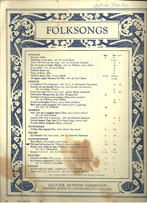 Picture of When I was Seventeen, Nar jag blef Sjutton Ar, Swedish folksong, H. Lilljebjorn