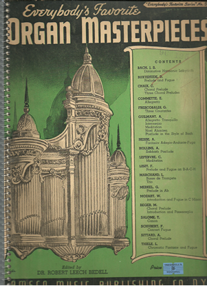 Picture of Everybody's Favorite Series No. 59, Organ Masterpieces, EFS59, ed. Dr. R. L. Bedell
