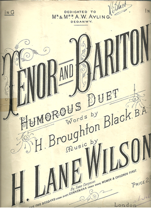 Picture of Tenor and Baritone, H. Broughton Black & H. Lane Wilson, vocal duet