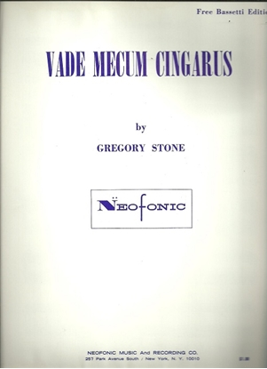 Picture of Vade Mecum Cingarus, Gregory Stone, free bass accordion solo