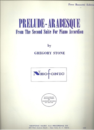 Picture of Prelude-Arabesque from 2nd Suite by Gregory Stone, free bass accordion solo