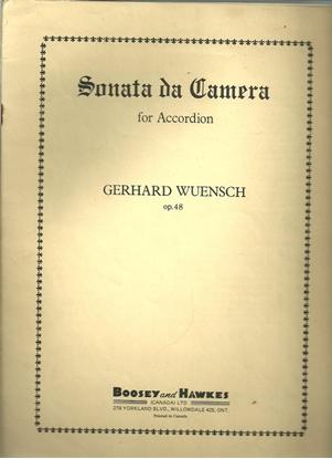 Picture of Sonata da Camera, Gerhard Wuensch Op. 48, free bass accordion solo