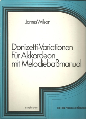 Picture of Donizetti Variations, arr. James Wilson, free bass accordion solo