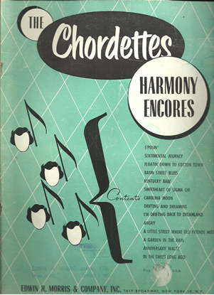 Picture of The Chordettes, Harmony Encores, arr. Walter O. Latzko, songbook