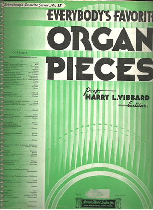 Picture of Everybody's Favorite Series No. 11, Organ Pieces, EFS11, ed. Harry L. Vibbard, organ solo songbook
