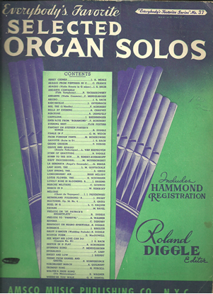 Picture of Everybody's Favorite Series No. 37, Selected Organ Solos, EFS37, ed. Roland Diggle