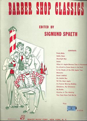 Picture of Barber Shop Classics, arr. Sigmund Spaeth for TTBB chorus