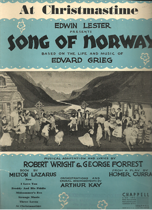 """Picture of At Christmastime, from """"Song of Norway"""", Edvard Grieg, adapted Robert Wright & George Forrest"""