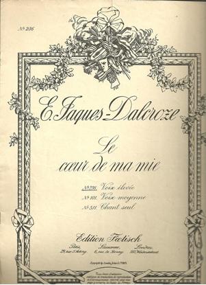 Picture of Le Coeur de ma mie, E. Jaques-Dalcroze, vocal duet