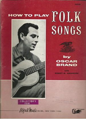 Picture of How to Play Folk Songs, Oscar Brand, guitar songbook