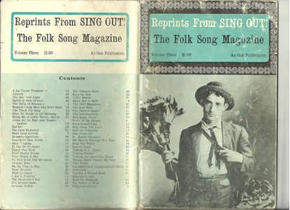 Picture of Reprints from Sing Out Volume  3, The Folk Song Magazine, songbook