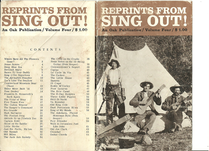 Picture of Reprints from Sing Out Volume  4, The Folk Song Magazine, songbook