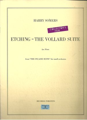 """Picture of Etching - The Vollard Suite, from """"The Picasso Suite"""", Harry Somers, unaccompanied flute"""