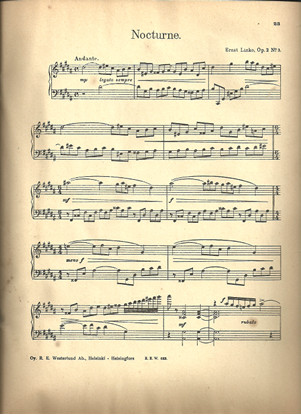 Picture of Nocturne, Ernst Linko, Op. 2 No. 3, piano solo