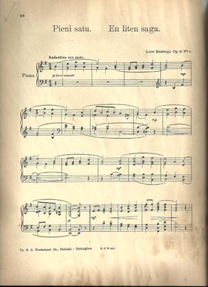 Picture of Pieni satu, Leevi Madetoja Op. 31 No. 3, piano solo