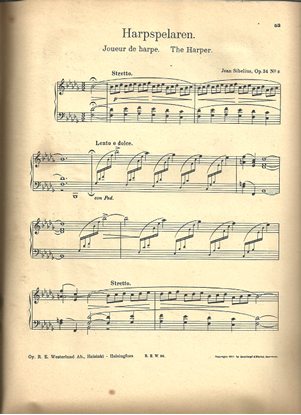 Picture of Harpspelaren, The Harper, Jean Sibelius Op. 34 No. 8, piano solo