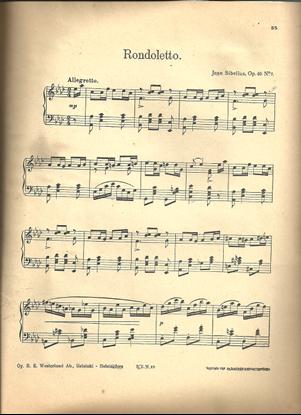 Picture of Rondoletto, Jean Sibelius Op. 40 No. 7, piano solo
