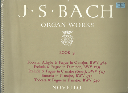 Picture of J. S. Bach Organ Works Novello Book 9