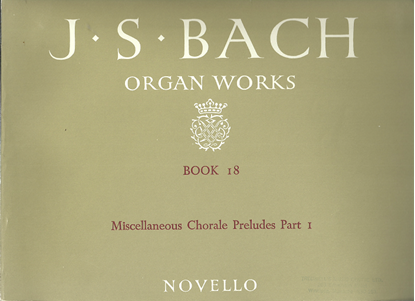 Picture of J. S. Bach Organ Works Novello Book 18