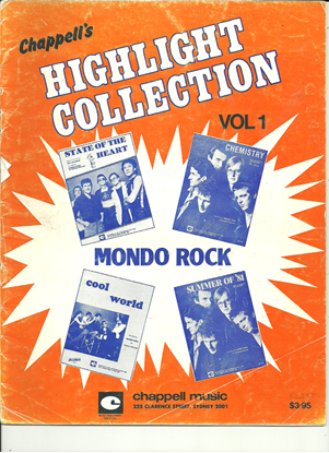 Picture of Mondo Rock, Highlights Collection Vol. 1, songbook