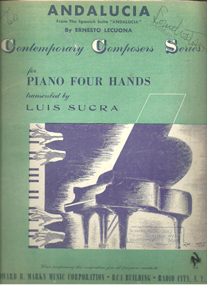Picture of Andalucía, Ernesto Lecuona, arranged for piano duet by Luis Sucra