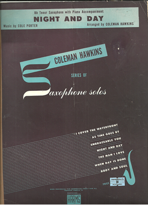 Picture of Night & Day, Cole Porter, arr. by Coleman Hawkins for tenor sax
