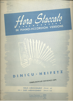Picture of Hora Staccato(Roumanian), Dinicu-Heifitz, transc. for accordion duet by Galla-Rini