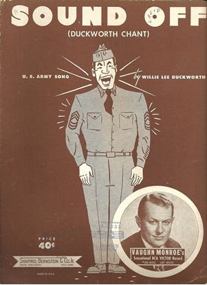 Picture of Sound Off(Duckworth Chant), U.S. Army Song, Willie Lee Duckworth, recorded by Vaughn Monroe