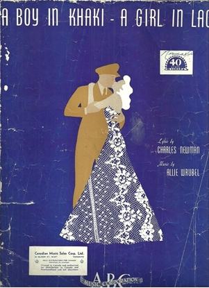 Picture of A Boy in Khaki - A Girl in Lace, Charles Newman & Allie Wrubel